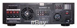 1000 Watt Pyle Pro Home Stereo Amfm Receiver Audio System Builtin Dvd/cd/mp3/usb