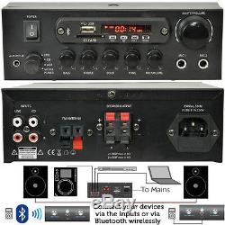 110W Mini Bluetooth Amplifier SystemWireless Home/Office Loud Speaker Hi-Fi Amp