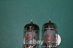 12AX7 CBS Audio Receiver Guitar Pre-amplifier Vacuum Tubes Tested Pair