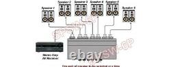 2-Way 6 In 1 Out Speaker Switch + Amplifier Selector For Amp Preamp Receiver