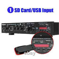 2000W bluetooth Stereo Power Amplifier 5 Channel Audio Receiver Preamplifier Amp