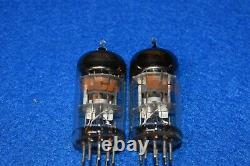 6CU8 RCA NOS NIB Audio Receiver Pre-amplifier Vacuum Tubes Tested Pair