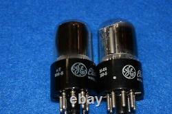 6SL7GT GE Short Bottle Audio Receiver Guitar Pre-Amplifier Vacuum Tubes Tested