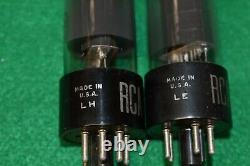 6V6GT RCA Audio Receiver Guitar Pre-Amplifier Vacuum Tubes Tested Pair