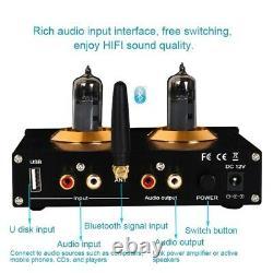 A9 HiFi Tube Preamp HiFi Headphone Amplifier Bluetooth 5.0 Receiver for U Disk
