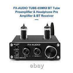 BT Tube Preamplifier Headphone Pre Amplifier Receiver HiFi Bluetooth 5.0 AUX Bas