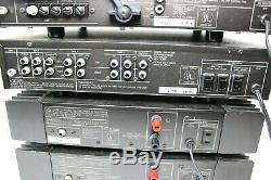 HK775X2 Harmon Kardon Dual HK775 Mono DC Amps, HK725 Pre Amp & HK715 Receiver