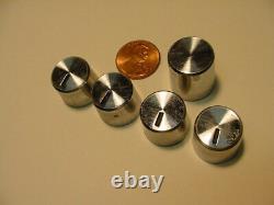 Heathkit 5 PIECES CONTROL KNOB LOT for amplifier preamplifier tuner receiver