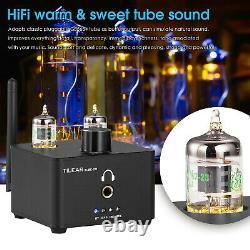 HiFi Bluetooth 5.0 Receiver Vacuum Tube Audio Preamp USB DAC Headphone Amplifier