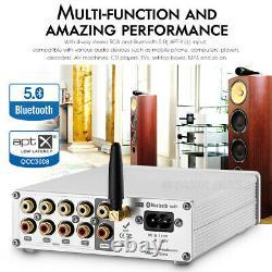 HiFi Bluetooth 5.0 Stereo Preamp Receiver Home Audio Pre-Amplifier IR Remote
