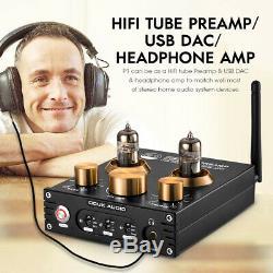 HiFi Vacuum Tube Preamp Bluetooth 5.0 Audio Receiver USB DAC Headphone Amp APTX