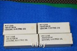 JAN 5725W 6AS6W GE NOS NIB Audio Receiver Pre-Amplifier Vacuum Tubes Quad