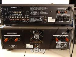 MITSUBISHI M-A6351 STEREO AMPLIFIER HTE-5400 and preamp radio tuner