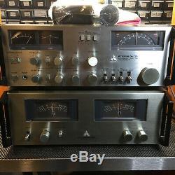 Mitsubishi DA-M10 Power meter, Recapped DA-A7DC Amplifier & DA-C20 Preamp /Tuner