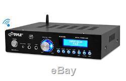 New PDA5BU 200W Bluetooth Stereo Mini Amplifier with AM-FM USB Mic Aux In Blue LCD