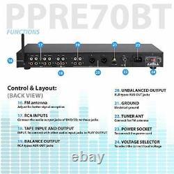 Pro Audio Blutooth Pre Amp Amplifier Receiver Audio System Digital Studio