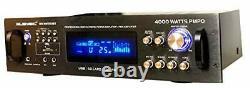 Professional 4000 Watts Hybrid Power Amplifier/Pre-Amplifier/Receiver