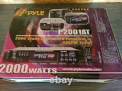 Pyle 2000 Watts Home Stereo Receiver Pre-Amplifier AM/FM RCA AUX-IN P2001AT