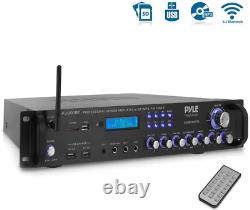 Pyle Bluetooth Hybrid Amplifier Receiver Home Theater Pre-Amplifier With Wirel