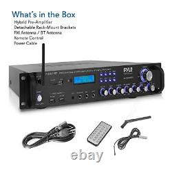 Pyle Bluetooth Hybrid Amplifier Receiver Home Theater Pre-Amplifier with