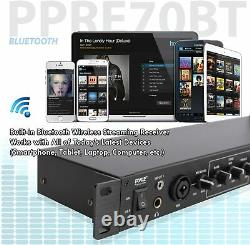 Pyle Bluetooth Rack Mount Pre-Amplifier Audio Receiver USB/SD Recording & Remote