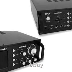 Pyle Home Theater Bluetooth Hybrid Pre-Amplifier Stereo Receiver (For Parts)