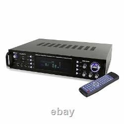 Pyle Home Theater Bluetooth Hybrid Pre Amplifier Stereo Receiver System (2 Pack)