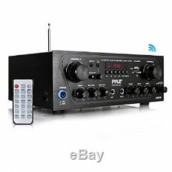 Pyle Homer Pta24bt Compact Bluetoothr Audio Stereo Receiver With Fm Radio