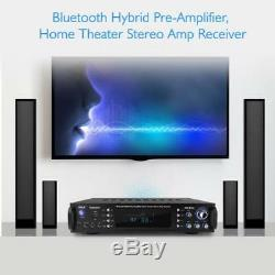 Pyle P2203ABTU 2000W Bluetooth Hybrid Pre-Amplifier Home Theater Stereo Receiver