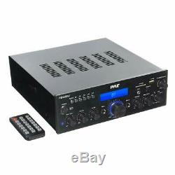 Pyle PDA6BU USB/SD-Card 200-Watt Bluetooth Stereo Amplifier Receiver 2 Channel