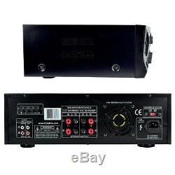 Pyle PT272AUBT 300 Watt Stereo Amplifier Receiver USB/SD, AM-FM Tuner, Bluetooth