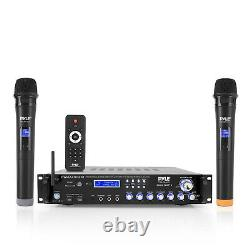 Pyle PWMA4004BT Pre-Amp Bluetooth Hybrid Amplifier Receiver System with 2 Mics