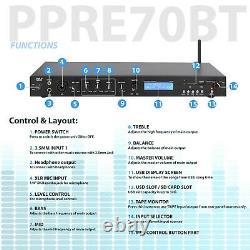 Pyle Rack Mount Studio Pre-Amplifier Audio Receiver System withDigital LCD Di