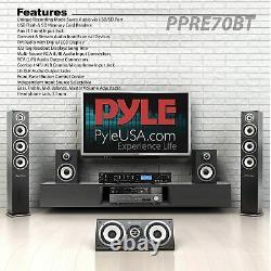 Pyle Rack Mount Studio Pre-Amplifier Audio Receiver System withDigital LCD Disp