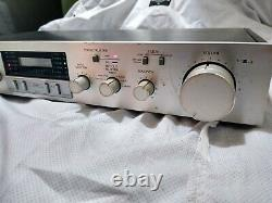 Sansui C-77 Stereo Pre-amplifier multi inputs silver finish AS IS