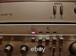 Vintage Aiwa Mini 4 Piece Stereo C50 P50 R50 R300 Amplifier Pre Amp Tuner Receiv