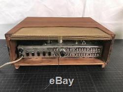 Vintage Fisher 400CX2 400-CX-2 Pre-Amplifier Preamp Tube with Original Cabinent