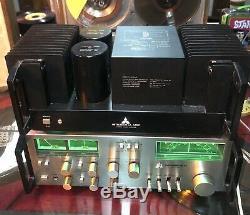 Vintage Mitsubishi DA A7DC STEREO POWER AMPLIFIER + DA-C7 Tuner / PreAmp WOW