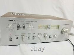 Vintage Retro Yamaha CA-610 II Receiver Integrated pre Amp Amplifier Silver/Wood
