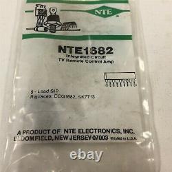 (1) Circuit De Préamplificateur De Circuit Intégré Nte Nte1682 Pour Récepteurs De Signaux Rc