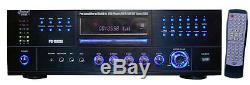 1000 Watt Pyle Pro Accueil Stéréo Amfm Récepteur Audio Système Builtin DVD / CD / Mp3 / Usb