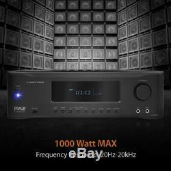 1000w De Salut-fi 4k Bluetooth Amplifier Fm Stereo Home Cinéma Récepteur De Système