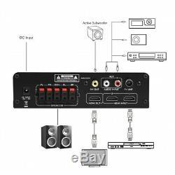 100w 5ch Bluetooth Salut-fi Av Home Cinéma Digital Power Amp Amplificateur Récepteur