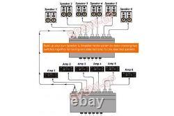 2-way 6 In 1 Out Speaker Switch + Amplificateur Sélecteur Pour Récepteur Préampli D'ampli