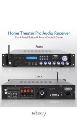 2000w Bluetooth Hybrid Pre Ampli Amplificateur Fm Stéréo Home Theater Récepteur Système