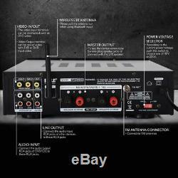 200w Bluetooth Stéréo Home Cinéma Numérique Récepteur Audio Amp Système Amplificateur