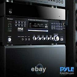4 Canal Pre Amplificateur Récepteur 1000 Watt Rack Mount Bluetooth Accueil