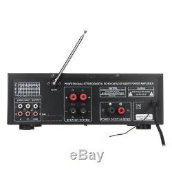 500w-2000w 110v 2ch / 5ch Accueil Bluetooth Amplificateur De Puissance Stéréo Amp Récepteur Mixer