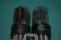6sn7gta Rca Audio Receiver Pré-amplificateur Tubes À Vide Testé Paire