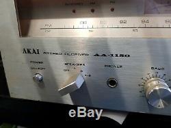 Akai Aa-1150 Récepteur Stéréo D'amplificateur Vintage Testé Travail